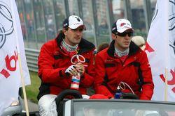 Driver parade, Markus Winkelhock, Audi Sport Team Rosberg and Mike Rockenfeller, Audi Sport Team Rosberg
