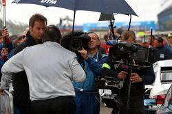 Norbert Haug, Sporting Director Mercedes-Benz being interviewed by German television