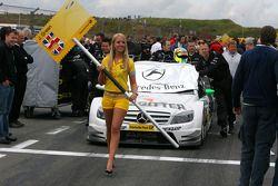 Car of Jamie Green, Team HWA AMG Mercedes, AMG Mercedes C-Klasse, being pushed onto the grid