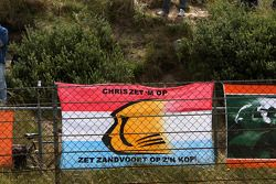 Fan flags and signs for local driver Christijan Albers, TME, Audi A4 DTM