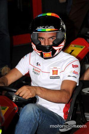 The Sachsenring go-kart race: Alex De Angelis