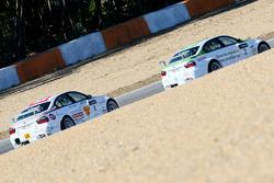 Alex Zanardi, BMW Team Italy-Spain, BMW 320si and Augusto Farfus, BMW Team Germany, BMW 320si