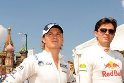 Nico Rosberg and Mikhail Aleshin