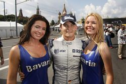 Nico Rosberg with the charming Bavaria girls