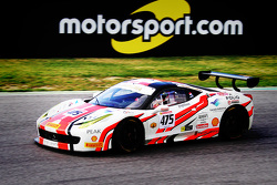 #475 AF Corse Ferrari 458: David Tjiptobiantoro with Motorsport.com signage