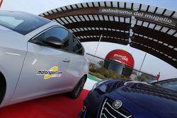Le logo Motorsport.com sur une Alfa Romeo Giulietta