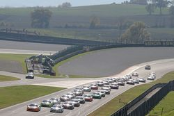 La partenza, #180 Kessel Racing Ferrari 458 Italia: Gautam Singhania in testa
