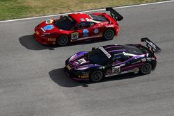 #316 Miller Motor Cars Ferrari 458 Italia: Al Delattre y #187 Rossocorsa Ferrari 458 Italia: Roberto