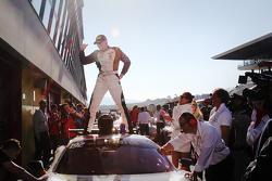 #192 Kessel Racing Ferrai 458 Italia: Jacques Duyver celebra tercer podio