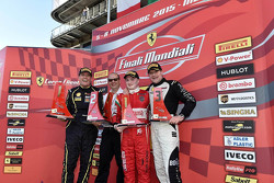 Race 1 winner: Gautam Singhania, Kessel Racing, second place Erich Prinoth, Ineco - MP Racing, third place Gregory Romanelli, The Collection