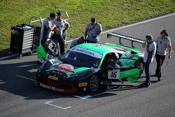 #46 Octane 126 Ferrari 458: Max Blancardi on the grid
