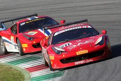 #277 Ferrari of Quebec Ferrari 458 : Emmanuel Anassis devant #131 AF Corse Ferrari 458 : Kriton Lendoudis