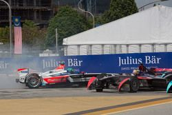 Nick Heidfeld, Mahindra Racing and Jean-Eric Vergne, DS Virgin Racing Formula E Team out off track