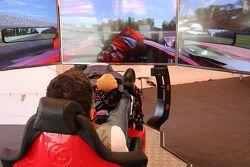 Il simulatore F1 nell'area realx