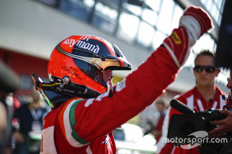 #180 Kessel Racing Ferrari 458: Gautam Singhania festeggia nel parco chiuso