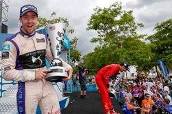 Podium : le deuxième Sam Bird, DS Virgin Racing Formula E Team
