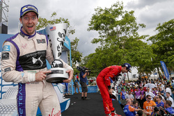 Podium : le deuxième Sam Bird, DS Virgin Racing Formula E Team