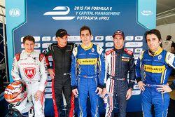 Top qualifiers: Loic Duval, Dragon Racing, Stéphane Sarrazin, Venturi, polesitter Sébastien Buemi, R