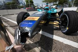 Crashed car of Oliver Turvey, NEXTEV TCR Formula E Team