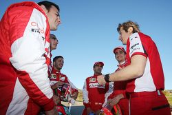 #266 Ferrari of San Francisco Ferrari 458: Ross Garber sulla griglia di partenza