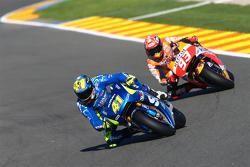 Aleix Espargaro, Team Suzuki MotoGP and Marc Marquez, Repsol Honda Team