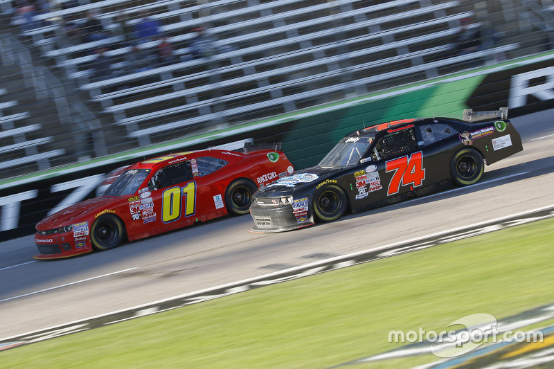 Landon Cassill, JD Motorsports Chevrolet and Mike Harmon