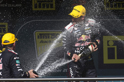 Winner Jamie Whincup, Triple Eight Race Engineering celebrates on the podium
