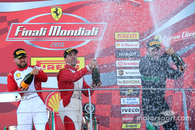 Podium Coppa Pirelli: 1.#55 Scuderia Autoropa Ferrari 458: