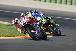 Andrea Dovizioso, Ducati Team and Pol Espargaro, Tech 3 Yamaha and Aleix Espargo, Team Suzuki MotoGP