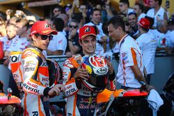 Second place Marc Marquez and third place Dani Pedrosa, Repsol Honda Team
