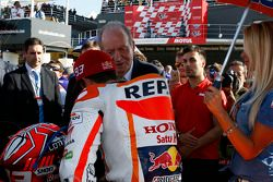 Marc Marquez, Repsol Honda Team and former Spanish King Juan Carlos