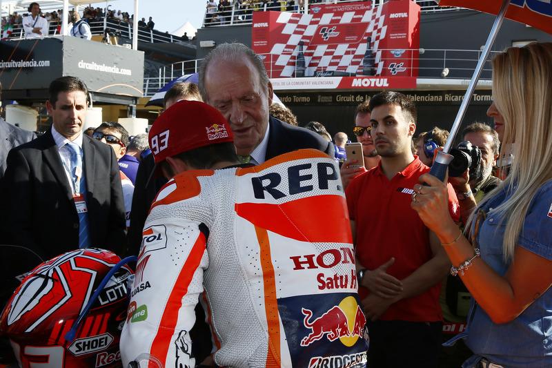 Marc Marquez, Repsol Honda Team e il precedente Re di Spagna Juan Carlos