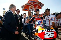 Dani Pedrosa, Repsol Honda Team and former Spanish King Juan Carlos
