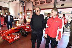 Sergio Marchionne, Ferrari President and CEO of Fiat Chrysler Automobiles with Ferrari F1 Clienti