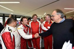 Sergio Marchionne, Ferrari President and CEO of Fiat Chrysler Automobiles with Ferrari F1 Clienti dr