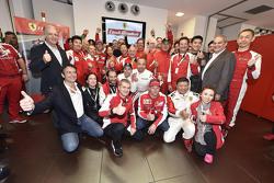 Ferrari Finali Mondiali con los pilotos de Scuderia F1 Sebastian Vettel y Kimi Raikkonen