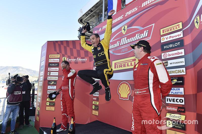Podium Coppa Shell: winner and Coppa Shell Champion #181 Ineco - MP Racing Ferrari 4548: Erich Prino