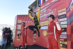 Podium Coppa Shell: winner and Coppa Shell Champion #181 Ineco - MP Racing Ferrari 4548: Erich Prino