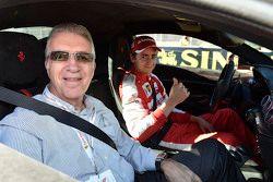 Piero Ferrari with Esteban Gutierrez, Ferrari Test and Reserve Driver
