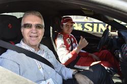 Piero Ferrari con Esteban Gutiérrez, Ferrari Piloto de Pruebas y de Reserva