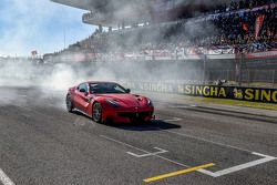 Ferrari F12tdf burnout