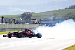 Sebastian Vettel, Ferrari haciendo donas