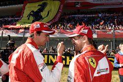 Sebastian Vettel, Ferrari y Esteban Gutiérrez, Ferrari Piloto de Pruebas y de Reserva