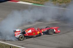 Kimi Raikkonen, Ferrari, a bordo della F138