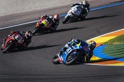 Maverick Viñales, Team Suzuki MotoGP, Stefan Bradl, Aprilia Racing Team Gresini, Alvaro Bautista, Aprilia Racing Team Gresini et Nicky Hayden, Aspar Team MotoGP Honda