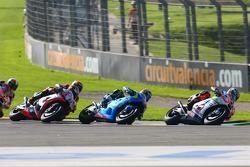 Danilo Petrucci, Pramac Racing Ducati and Maverick Viñales, Team Suzuki MotoGP and Stefan Bradl, Apr