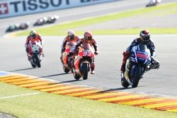 Jorge Lorenzo, Yamaha Factory Racing and Marc Marquez, Repsol Honda Team and Dani Pedrosa, Repsol Ho