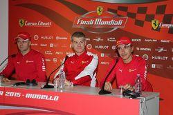 Conferenza stampa Finali Mondiali Ferrari: da sinistra a destra, Gianmaria Bruni, AF Corse, Antonell