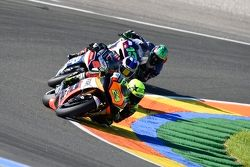 Toni Elias, Forward Racing Yamaha and Hector Barbera, Avintia Racing Ducati and Mike di Meglio, Avin