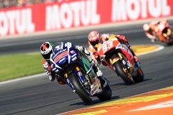 Jorge Lorenzo, Yamaha Factory Racing, Marc Marquez, Repsol Honda Team et Dani Pedrosa, Repsol Honda Team